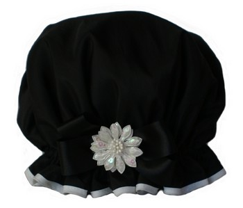 Big Bow Pizazz - Black w/White