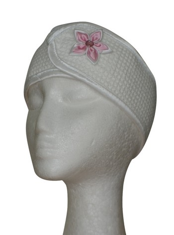 Microfibre Head Band - Pink Flower
