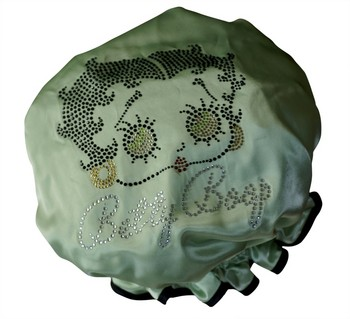 Diamante Shower Cap - BETTY BOOP - Lime