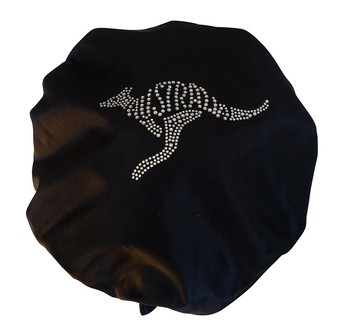 Diamante Shower Cap - AUSSIE ROO - Black