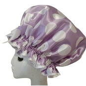 XL Ladies Shower Cap - Big Dot Lilac