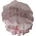 Diamante Shower Cap - DOG LOVER - Pink