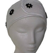 Microfibre Head Band - Black Daisy