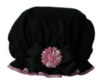 Big Bow - Pizazz - Black w/Pink
