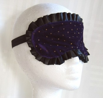 Sleep Mask - Purple w/Gold Dots