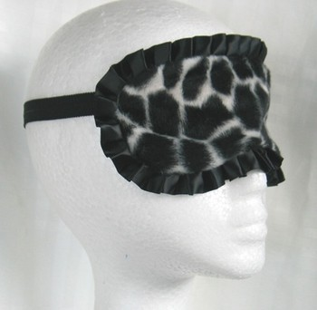 Sleep Mask - Chequered Black