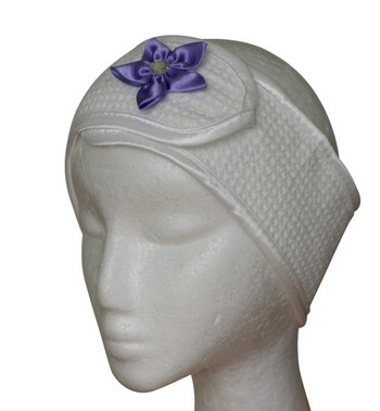 Microfibre Head Band - Lilac Flower