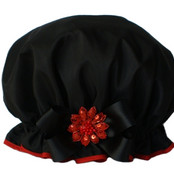 Big Bow Pizazz - Black w/Red