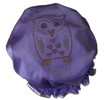 Diamante Shower Cap - HOOT - Lilac