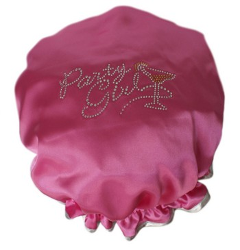 Diamante Shower Cap - PARTY GIRL- Hot Pink