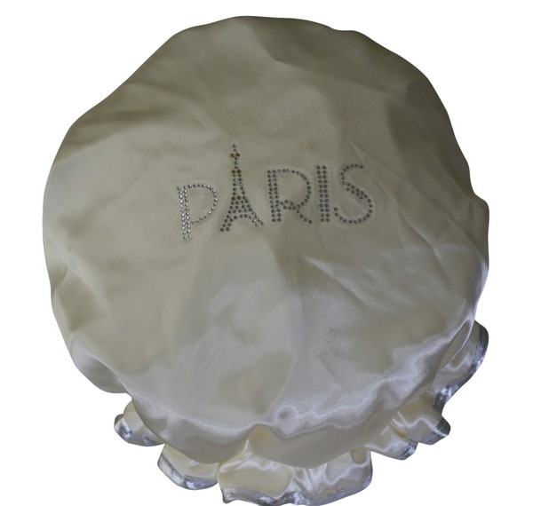 diamante shower cap paris cream. Black Bedroom Furniture Sets. Home Design Ideas