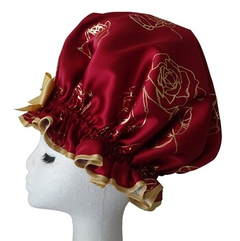 XL Ladies Shower Cap - Bloom Burgundy