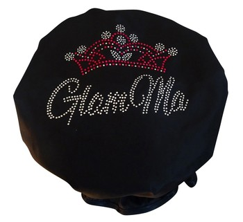 Diamante Shower Cap - GLAM MA  -Black